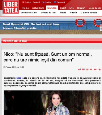 "Nico:""Sunt un om normal"""