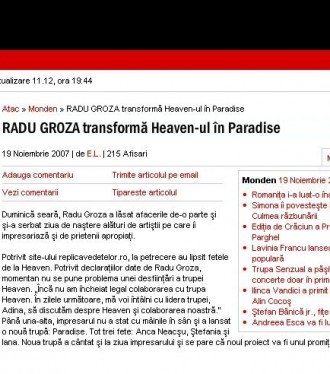 Radu Groza transforma Heaven-ul in Paradise